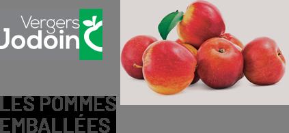 Les pommes emballées