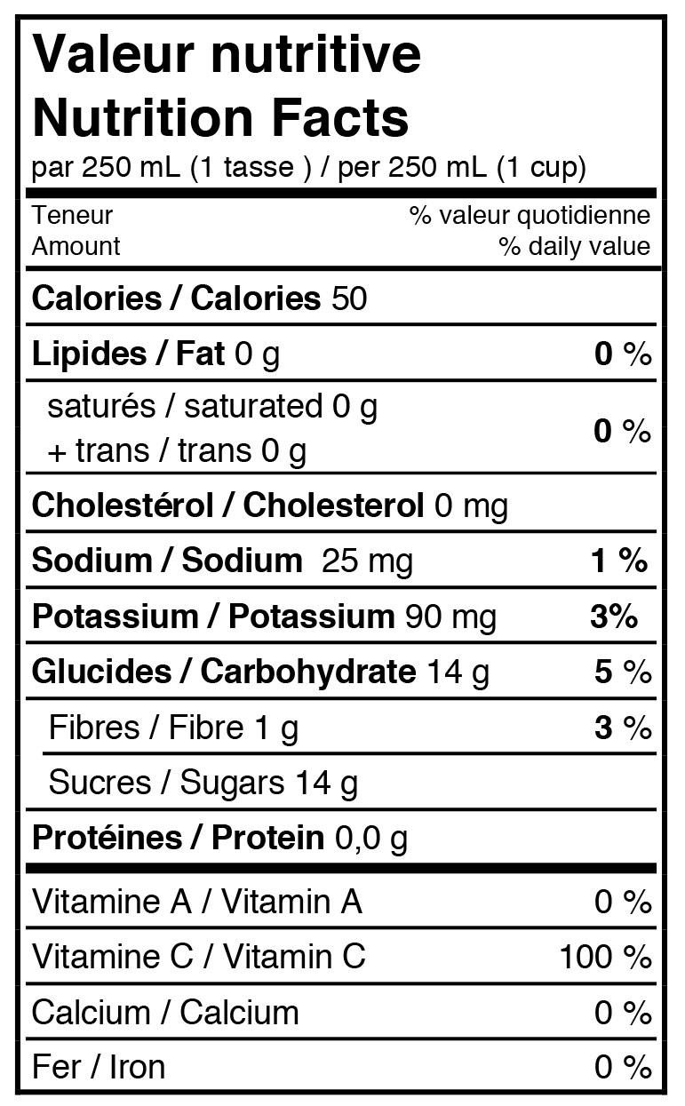 fiche-nutritive-cocktail-pomme-et-canneberge-cinquante-calories