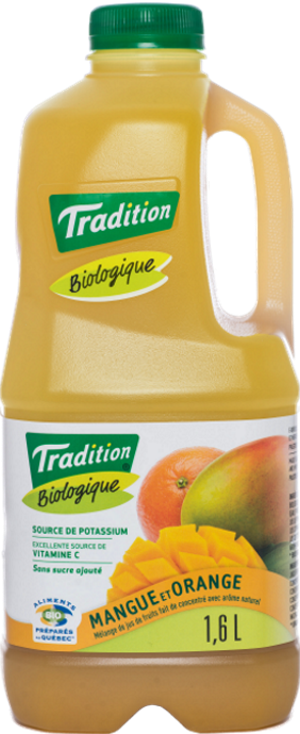 Jus Tradition biologique manque et orange