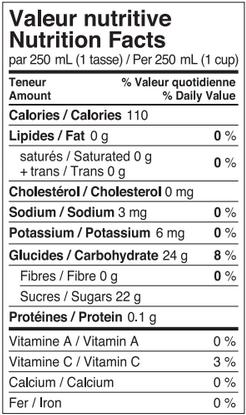Nutrition-Limonade-Clémentine